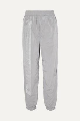 Alexander Wang Striped Shell Track Pants - Silver