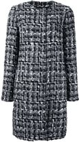 Dolce & Gabbana slim fit boucle coat - women - Silk/Cotton/Acrylic/Wool - 46