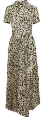 GOEN.J Pleated Crepe De Chine Maxi Shirt Dress