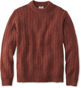 L.L. Bean Classic Ragg Wool Sweater, Rib-Knit Crewneck