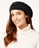 Charter Club Velvety Solid Chenille Beret, Only at Macy's