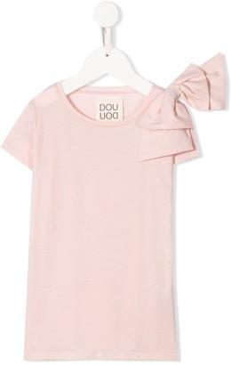 Douuod Kids bow detail T-shirt