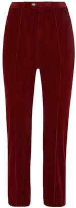 Chloé Cropped Cotton-blend Corduroy Straight-leg Pants