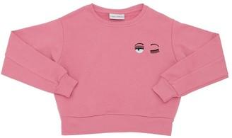 Chiara Ferragni Flirting Eyes Cotton Sweatshirt