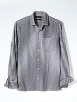 Banana Republic Camden-fit Textured Blue Check Shirt