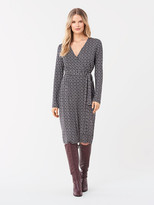 Diane von Furstenberg Karis Silk-Jersey Faux-Wrap Dress