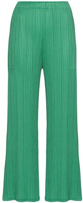 Pleats Please Issey Miyake High-Waisted Plisse Trousers