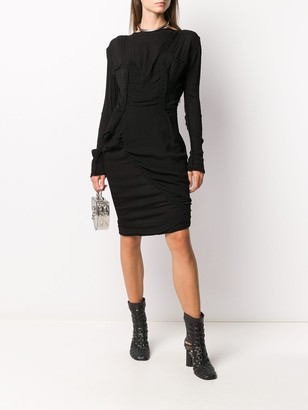 Vivienne Westwood Fitted Wool Midi Dress
