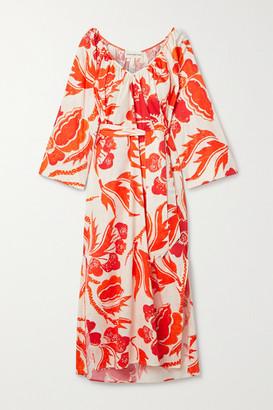Mara Hoffman Luz Printed Organic Cotton Midi Dress - Orange