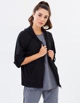 DKNY Mesh Roll Cuff Jacket