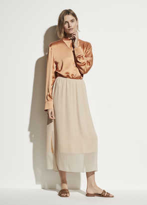 Vince Textured Double Layer Skirt