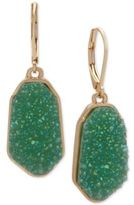 lonna & lilly Gold-Tone Green Stone Drop Earrings