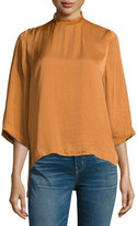Lucca Couture Priya High-Neck Top, Brown