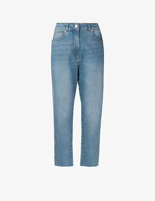 Whistles Slim-fit faded stretch-denim jeans