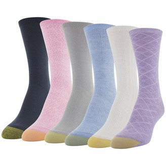 Gold Toe Women's Casual Texture Crew Socks 6 Pairs