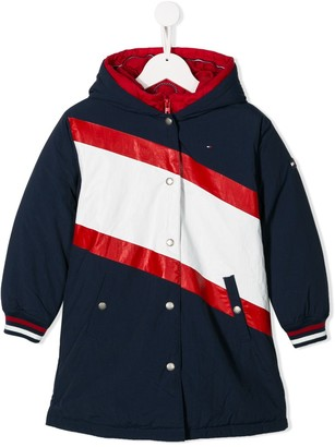 Tommy Hilfiger Junior Colour Block Padded Coat