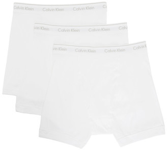 Calvin Klein Underwear Three-Pack White Cotton Boxer Briefs