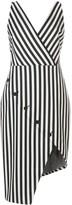 Altuzarra button detailed asymmetric hem dress