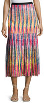 Saloni Diana C Chevron Lace Midi Skirt