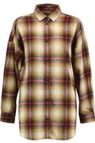 IRO Milay Split-Side Checked Brushed-Cotton Shirt