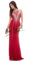Mac Duggal High Neck Jersey Prom Dress