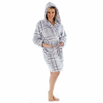 Fashion by Purdashian Ladies Robes Dressing Gowns Ladies Super Soft Dressing Gowns Full Length Short Hooded Novelty Or Plain Towelling Bath Robes