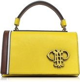 Emilio Pucci Cyber Yellow Leather Shoulder Bag