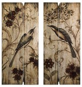 "Aurora Decorative Wall Art Set - Brown (3.5 X 41.5 X 20.5"")"