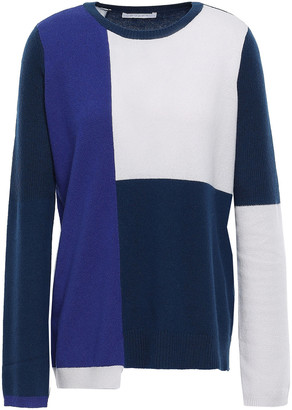 Duffy Asymmetric Color-block Cashmere Sweater