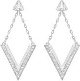Swarovski Delta Pierced Earrings, White