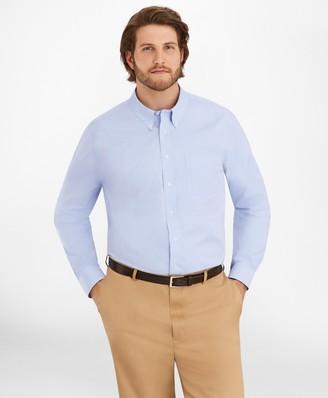 Brooks Brothers Big & Tall Dress Shirt, Non-Iron Button-Down Collar
