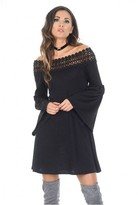 AX Paris Black Flared Sleeve Swing Dress