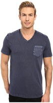Kenneth Cole Sportswear - Acid Washed V-Neck Men's Short Sleeve Knit