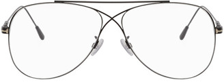 Tom Ford Black Criss-Cross Aviator Glasses