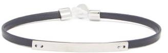 Miansai Nexus Id Sterling-silver & Leather Bracelet - Navy
