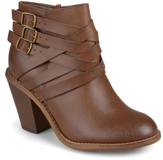 Journee Collection Strappy Ankle Bootie - Wide Width