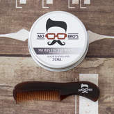 Mo Bro's Premium Grooming Men's Moustache Kit Wax And Kent 81 T Comb
