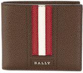 Bally striped billfold wallet