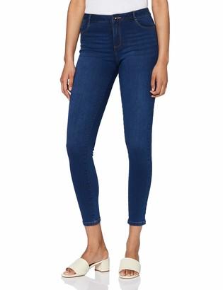 Dorothy Perkins Women's Mid Wash Regular Length Ellis Skinny Jeans 10