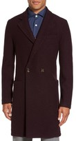 Eleventy Men's Boiled Wool Double Breasted Topcoat