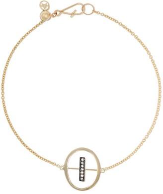 Annoushka 18kt yellow gold diamond initial I bracelet
