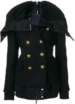 Sacai oversized collar military jacket