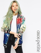 Asos Bomber Jacket with Ombre Print Detail