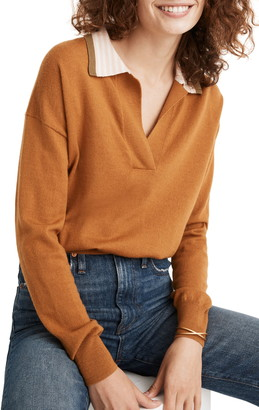 Madewell Colorblock Polo Sweater