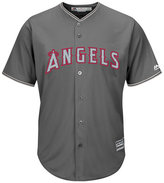 Majestic Men's Mike Trout Los Angeles Angels of Anaheim Platinum Cool Base Jersey