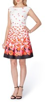 Tahari Petite Women's Floral Fit & Flare Dress