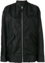 MM6 MAISON MARGIELA zipped bomber jacket - women - Polyamide/Polyester/Viscose - 38