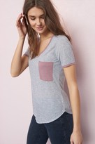 Garage Relaxed Ringer Tee With Pocket