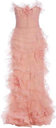 Marchesa Ruffled Organza Gown