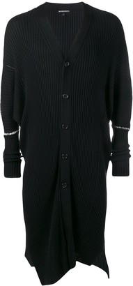 Ann Demeulemeester Long Ribbed Knit Cardigan